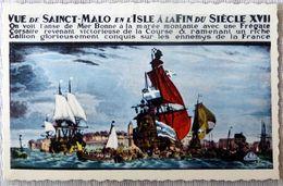 """Saint-Malo : """"cité Corsaire"""" / Reproduction Du Tableau De La Brasserie Des Voyageurs - Saint Malo"""