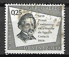 VENEZUELA    -   Aéro   .   1960 .  Agustin Codazzi.  0,25 C. Oblitéré. - Venezuela
