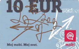 SLOVENIA Mobitel Moj Mobi 10 EUR 31/12/2012 Paper Mobil Prepaid Phonecard - Slovenia