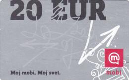 SLOVENIA Mobitel  Moj Mobi 20 EUR 31/12/2014 Paper Mobil Prepaid Phonecard - Slovenia
