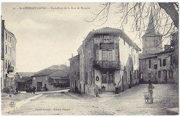 SAINT-GERMAIN-LAVAL (42) – Carrefour De La Rue De Roanne. Cliché Bouillet, Edition Chartre, N° 10. - Saint Germain Laval