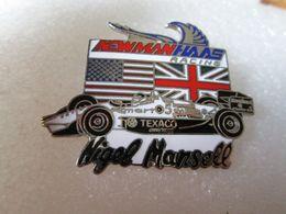 RARE TOP PIN'S   NIGEL MANSELL  NEWMAN HASS RACING   TEXACO  EMAIL GRAND FEU - Porsche