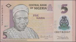 TWN - NIGERIA 38c - 5 Naira 2011 Polymer - Prefix CB UNC - Nigeria