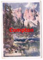 566 E.T.Compton Karersee Und Latemarwände Künstlerkarte - Ohne Zuordnung