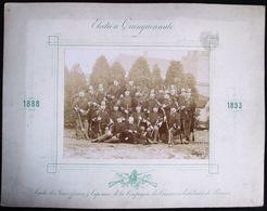 TRES RARE !! 1893 GRANDE PHOTO DES SOUS OFFICIERS & CAPORAUX DE LA COMPAGNIE DES CHASSEURS ECLAIREURS DE BRUGES - Anciennes (Av. 1900)