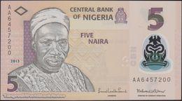 TWN - NIGERIA 38d - 5 Naira 2013 Polymer - Prefix AA UNC - Nigeria