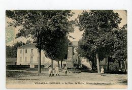 CPA: 01- VILLARS-LES-DOMBES - LA PLACE, LA MAIRIE, L'ÉCOLE DE GARÇONS - - Villars-les-Dombes