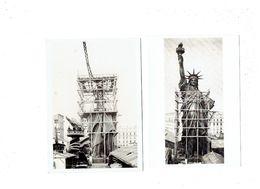 Lot 2 Cpm - Construction De La Statue De La Liberté PARIS 1876 - NEW-YORK 1886 - LL Viollet échafaudage - Esculturas