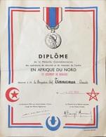 France, Diplôme Afrique Du Nord. - Diplômes & Bulletins Scolaires