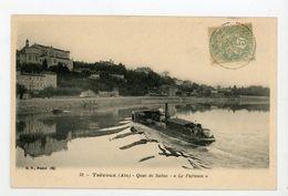 """CPA: 01- TREVOUX - QUAI DE LA SAONE """"LE PARISIEN""""  - - Trévoux"""