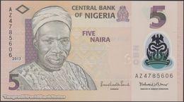 TWN - NIGERIA 38d - 5 Naira 2013 Polymer - Prefix AZ UNC - Nigeria