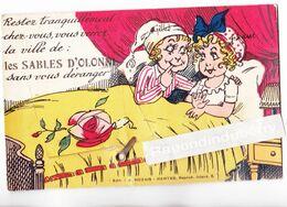 """CPA - 85 - LES SABLES D'OLONNE - Carte à Sytème à Dépliant """"Restez Tranquilt Chez Vous"""" Voy 1937 - CARTE RARE - Atta Fer - Sables D'Olonne"""