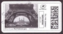 France -  Tour Eiffel  # Vignettes D'affranchissement - Lettre Prioritaire France Max 50g - 2010-... Illustrated Franking Labels