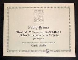 Spartito - Pablo Bruna - Tiento De 2° Tono Por Ge-Sol-Re-Ut - Organo - Old Paper