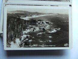 America USA OR Oregon Coast Highway South From Ott.. Crest Photo Card - Etats-Unis