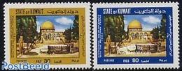 Kuwait 1980 Palestine Solidarity 2v, (Mint NH) - Koweït