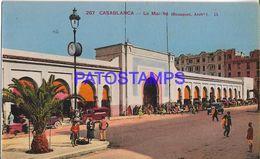 139432 AFRICA CASABLANCA MOROCCO THE MARKET POSTAL POSTCARD - Cartoline