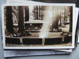 America USA CA Campfire At Lanes Redwood Flat Photo Card - Etats-Unis
