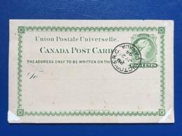 CANADA Victoria 2 Cents Pre-paid Card Victoria B.C. Postmark Unsent - 1851-1902 Victoria