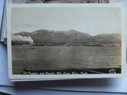 America USA WA Port Angeles And Olympic Mts From Ediz Hook Photo Card - Etats-Unis