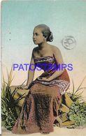 139434 NEDERLANSCH INDIE COSTUMES NATIVE WOMAN POSTAL POSTCARD - Ohne Zuordnung