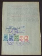 Yugoslavia 1958 Serbia Local ZRENJANIN Revenue Fiscal Stamps On Document BD36 - Storia Postale