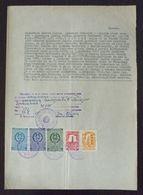 Yugoslavia 1955 Serbia Local ZRENJANIN Revenue Fiscal Stamps On Document BD40 - Storia Postale