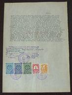 Yugoslavia 1955 Serbia Local ZRENJANIN Revenue Fiscal Stamps On Document BD41 - Storia Postale