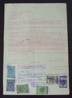 Yugoslavia 1956 Serbia Local OBRENOVAC Revenue Fiscal Stamps On Document BD46 - Storia Postale