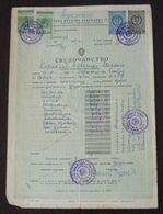 Yugoslavia 1957 Serbia Local OBRENOVAC Revenue Fiscal Stamps On Document BD48 - Storia Postale
