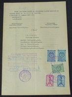 Yugoslavia 1958 Serbia Local KRUSEVAC Revenue Fiscal Stamps On Document BD54 - Storia Postale
