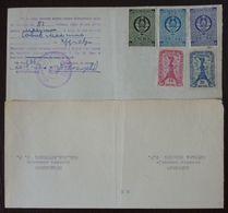 Yugoslavia 1957 Serbia Local KRUSEVAC Revenue Fiscal Stamps On Document BD55 - Storia Postale