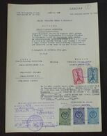 Yugoslavia 1957 Serbia Local KRUSEVAC Revenue Fiscal Stamps On Document BD57 - Storia Postale
