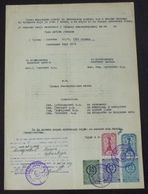 Yugoslavia 1957 Serbia Local KRUSEVAC Revenue Fiscal Stamps On Document BD58 - Storia Postale