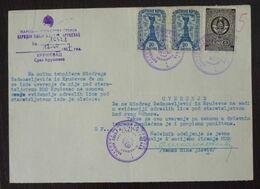 Yugoslavia 1957 Serbia Local KRUSEVAC Revenue Fiscal Stamps On Document BD61 - Storia Postale