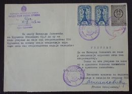 Yugoslavia 1958 Serbia Local KRUSEVAC Revenue Fiscal Stamps On Document BD62 - Storia Postale