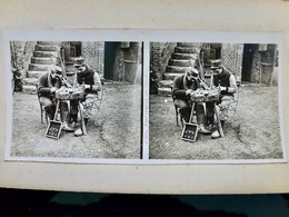 Photo STEREO Ww1 WwII 1914 1918 : Fabricants De Bagues _ POILUS _ N°2656 - Guerre, Militaire