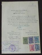 Yugoslavia 1957 Serbia Local KRUSEVAC Revenue Fiscal Stamps On Document BD65 - Storia Postale