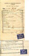 30 GARD.SOMMIERES.NOTE DU COLLEGE DE L'IMMACULÉE-CONCEPTION DE 1876.2 PIECES. - Old Paper