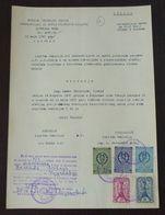 Yugoslavia 1957 Serbia Local KRUSEVAC Revenue Fiscal Stamps On Document BD68 - Storia Postale