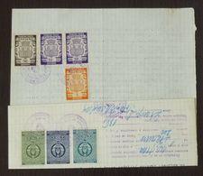 Yugoslavia 1958 Serbia Local PANCEVO Revenue Fiscal Stamps On Document BD69 - Storia Postale