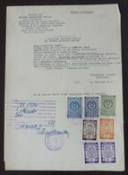 Yugoslavia 1959 Serbia Local PANCEVO Revenue Fiscal Stamps On Document BD70 - Storia Postale