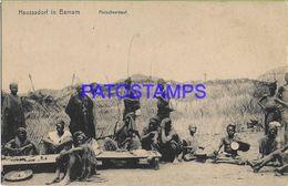 139451 AFRICA HAUSSADORF IN BAMUM COSTUMES NATIVE MEAT SALE POSTAL POSTCARD - Cartoline