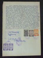 Yugoslavia 1959 Serbia Local PANCEVO Revenue Fiscal Stamps On Document BD76 - Storia Postale