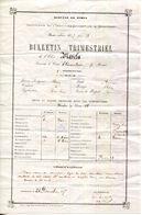 30 GARD.SOMMIERES.BULLETIN DU COLLEGE DE L'IMMACULÉE-CONCEPTION DE 1877. - Old Paper