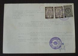 Yugoslavia 1959 Serbia Local PANCEVO Revenue Fiscal Stamps On Document BD84 - Storia Postale