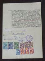 Yugoslavia 1956 Serbia Local KIKINDA Revenue Fiscal Stamps On Document BD85 - Storia Postale