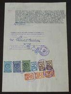Yugoslavia 1956 Serbia Local KIKINDA Revenue Fiscal Stamps On Document BD86 - Storia Postale