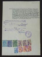 Yugoslavia 1956 Serbia Local KIKINDA Revenue Fiscal Stamps On Document BD87 - Storia Postale