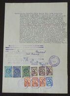 Yugoslavia 1956 Serbia Local KIKINDA Revenue Fiscal Stamps On Document BD89 - Storia Postale